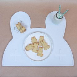 Placemat bunny wit